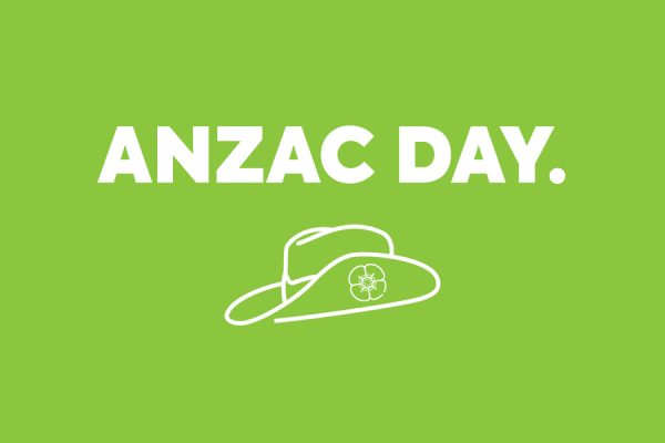 ANZAC DAY. OPEN 6.30AM.